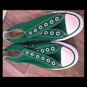 Green Converse Low Tops